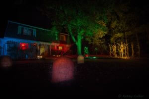 Our house on Halloween