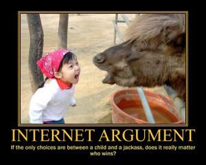 internet argument a child and a jackass